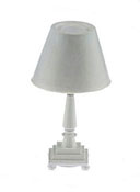 "1"" Scale Miniature Traditional White Table Lamp"
