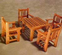 "Townsquare 1/2"" Scale Five Piece Patio Table Set"
