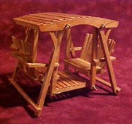 "Townsquare 1/2"" Scale Patio Double Glider"