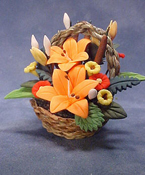 "Bright deLights 1"" Scale Tropical Orange Flowers"
