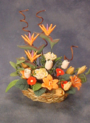 "Bright deLights 1"" Scale Bird of Paradise in a Basket"