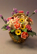 Bright deLights Floral Bouquet In Basket