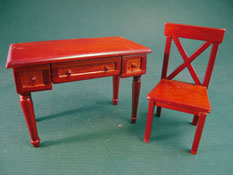 "Lee's Line 1"" Scale Ashley Spice Desk and Chair"