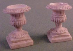 "Falcon 1/2"" Scale Pair of Grey Patio Urns"