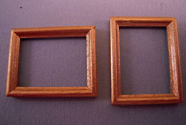 "1/2"" Scale Miniature Pair Of Gold Picture Frames"