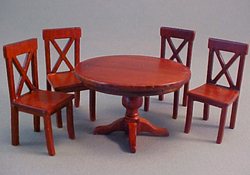"Lee's Line 1/2"" Scale Miniature Spice Dining Table Set"