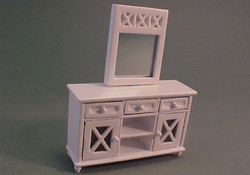 "Lee's Line 1/2"" Scale Miniature White Buffet Set"