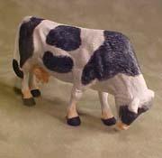 "Falcon 1/2"" Scale Black and White Cow Grazing"