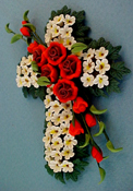 "Bright deLights 1"" Scale Floral Cross"