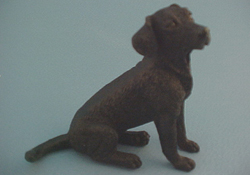 "1"" Scale Black Labrador Retriever"