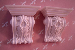 "Falcon Miniatures 1"" Scale Miniature Set Of Two Acanthus Brackets"