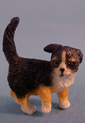 "1"" Scale Black Puppy"