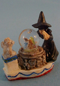 "Falcon 1"" Scale Witch Water Globe"