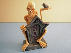 "1"" Scale Mr. RIP Halloween Miniature"