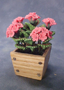 "Bright deLights 1"" Scale Pink Geraniums In A Planter Box"