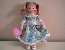 """Ethel Hicks Angel Children 1"""" Scale Sally Anne A Sweetheart Limited Edition Doll"""