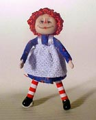 "Anderson Miniatures 1"" Scale Rag Girl Toy Doll"