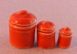 1&quot; Scale Bright deLights Rose Ceramic Canister Set    