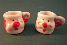 "1"" Scale Bright deLights Pair Of Santa Mugs"
