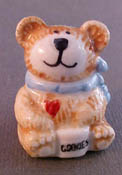 "1"" Scale Bright deLights Happy Bear Porcelain Cookie Jar"
