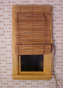 "By Barb 1"" Scale Hand Crafted Working Bamboo Roll Up Shade"