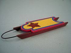 "1"" Scale Miniature Wooden Snow Sled"