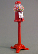 "1"" Scale Free Standing Gum Ball Machine"