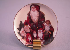"By Barb 1"" Scale Victorian Santas Decorative Christmas Plate"