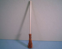 "Silvia Leiner 1"" Scale Miniature Straw Witch's Broom"