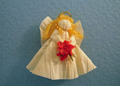 "All Through The House 1/2"" Scale Hand Crafted Tree Top Angel"