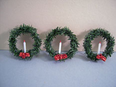 "1"" Scale Crickets N Koala Tree Three Piece Christmas Wreath Set"
