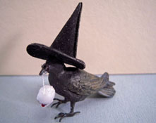 "1"" Scale Crickets N Koala Tree Halloween Raven"