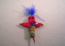 "1"" Scale Crickets N Koala Tree Halloween Voodoo Doll"