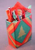 All Through The House Hand Crafted Filled Christmas Shopping Bag