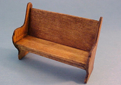 "CJ's Miniatures 1/2"" Scale Hand Crafted Church Pew Garden Bench"