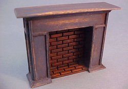 "CJ's Miniatures 1/2"" Scale Hand Crafted Antique Blue Fireplace"
