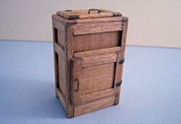 """CJ's Miniatures 1/2"""" Scale Hand Crafted Olde Wooden Ice Box"""