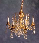 Cir-Kit 1&quot; Scale Six Arm Crystal Chandelier
