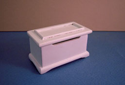 "1"" Scale Miniature White Toy Box"