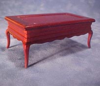 "1"" Scale Mahogany Coffee Table"