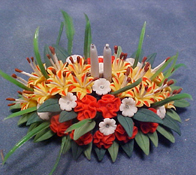 "Bright deLights 1"" Scale Tiger Lily Center Piece"