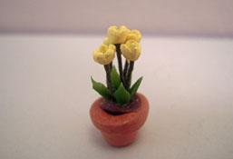 "1/2"" Scale Potted Yellow Tulips"
