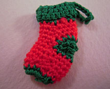 Bright deLights Handknit Christmas Stocking 1:12