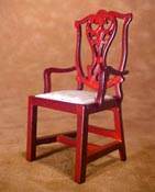 "Townsquare 1"" Scale Chippendale Arm Chair"