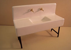 "1"" Scale 1920's Porcelain Sink"