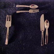 "1"" Scale Single Flatware Place Setting"