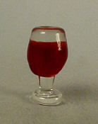 "1"" Scale Glass Of Red Wine"