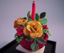 The Dollhouse Florist 1&quot; Scale Hand Crafted Autumn Flowers