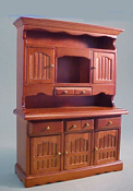 "1"" Scale Walnut Kitchen Hutch"