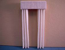 "1/2"" Scale Miniature White Fabric Drapes"